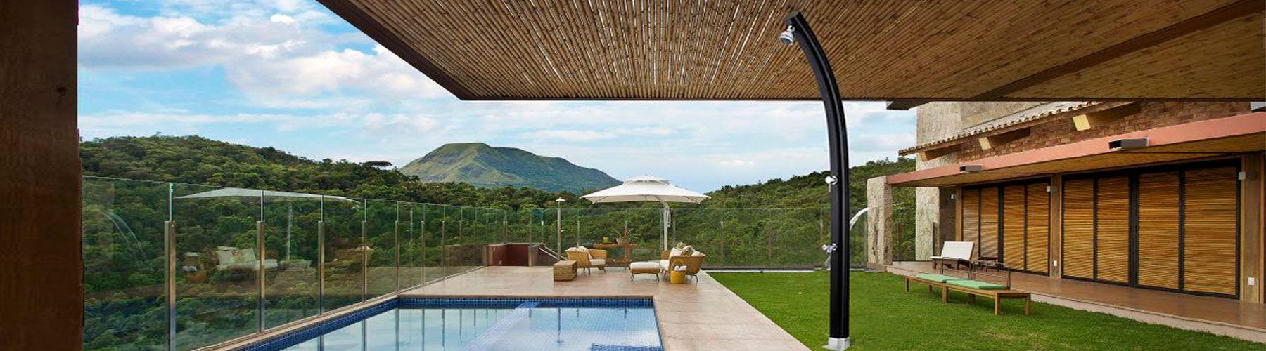 Duchas de piscinas ducha agua caliente iguazu astral pool - Duchas de piscina ...